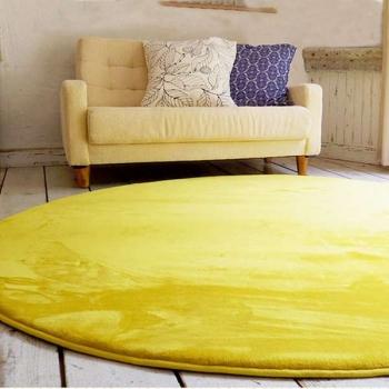 Ковер круглый желтый с коротким ворсом JumKids Memory Foam Sun